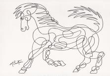 003. 1966-5. Horse. Cont line.