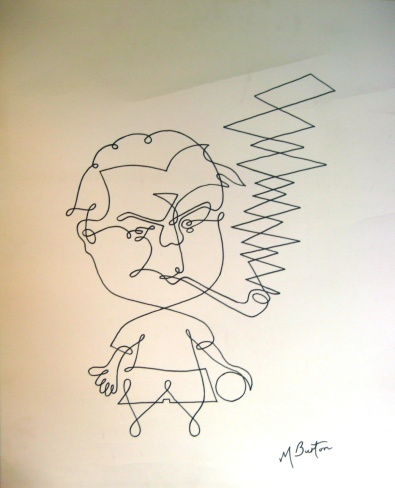 1966 C. Harold Wilson, or My part in Englands victory. Continuous Line.