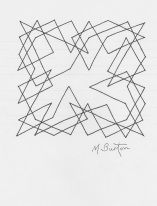 """""""Knight's Moves"""" single continuous line drawing by Mick Burton, continuous line artist. 1974."""
