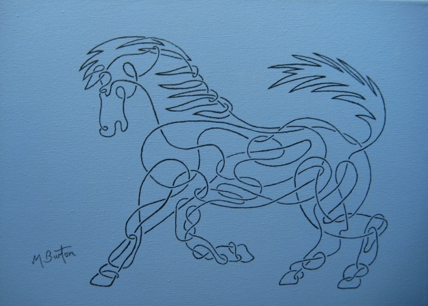 Horse, in Celtic style.