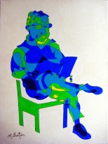 Stainbeck Artist, single continuous line drawing and colour sequence. Mick Burton, 2012.