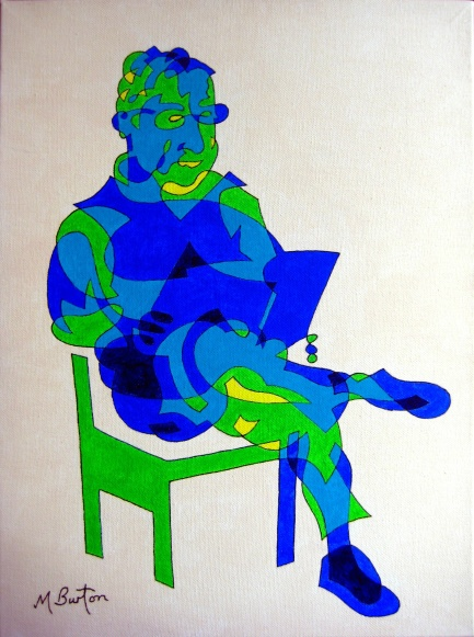 Stainbeck Artist in continuous line and colour sequence. Mick Burton, 2012.