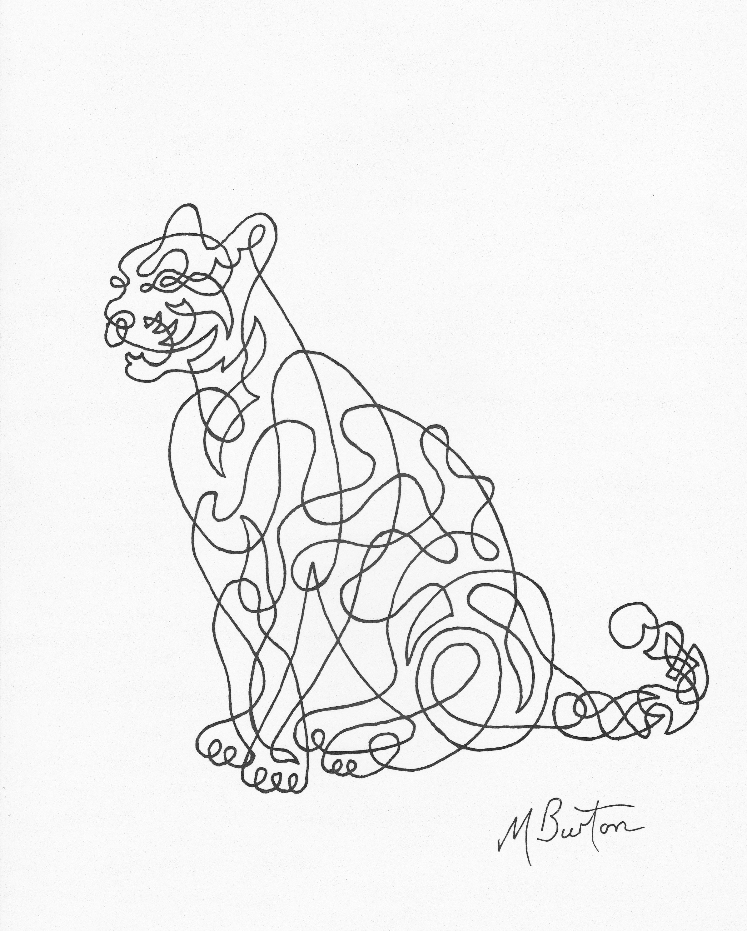 Line Drawing Of Artist : Association of animal artists mick burton
