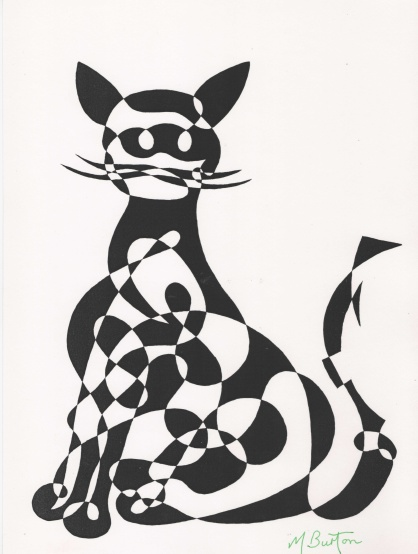 010. 1966-9. Cat, or Ragamuffin. Alternate shade, black.