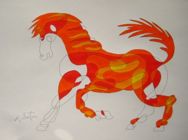 Fig 9.  Second Colour Sequence pair of colours on Continuous Line Horse.