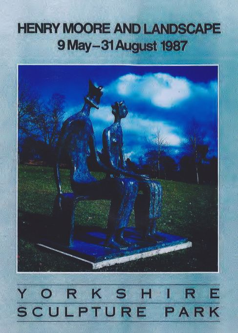 Poster for Henry Moore exhibition at Yorkshire Sculpture Park, 1987.