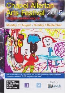 Chapel Allerton Arts Festival 2015, front cover of brochure.