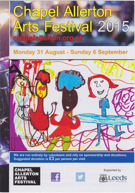 Chapel Allerton Arts Festival 2015, front cover of brochure.