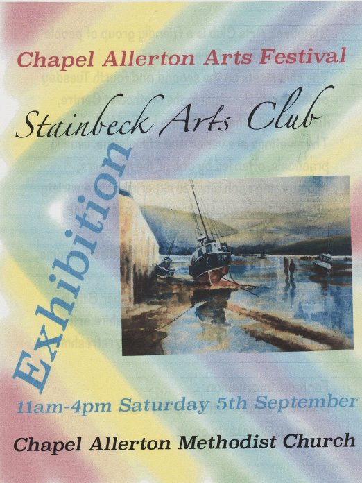 Stainbeck Arts Club Exhibition at Chapel Allerton Arts Festival, Leeds.  on Saturday 5 September 2015.  Paintings by Mick Burton, continuous line artist, are included.