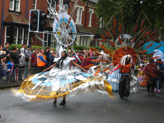 Razzle and Dazzle at the Leeds Carnival. Photo by Mick Burton, continuous line artist.