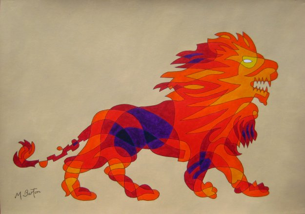 Leeds Olympic Lion.   Mick Burton