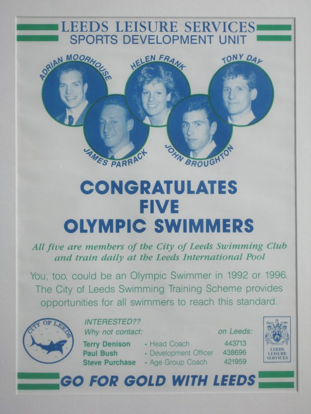 Leeds Olympic Swimmers at Seoul 1988