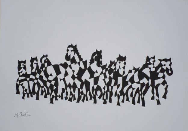 IMG_0888 - Horses black & white